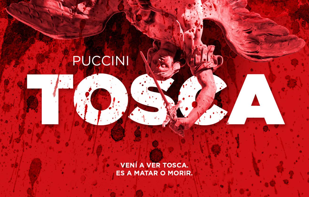 Diseño de comunicación para la ópera Tosca.