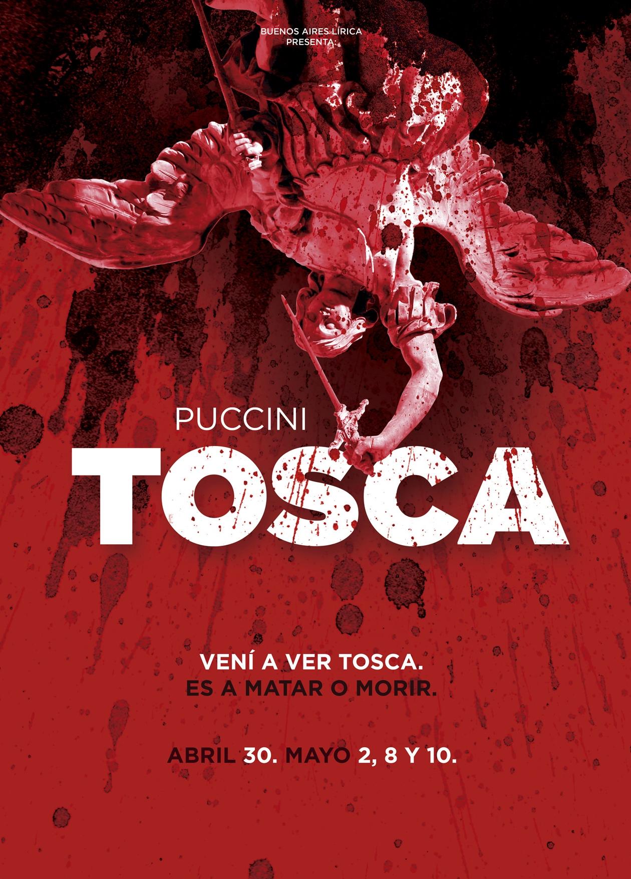 Diseño de comunicación para la ópera Tosca. Afiche.