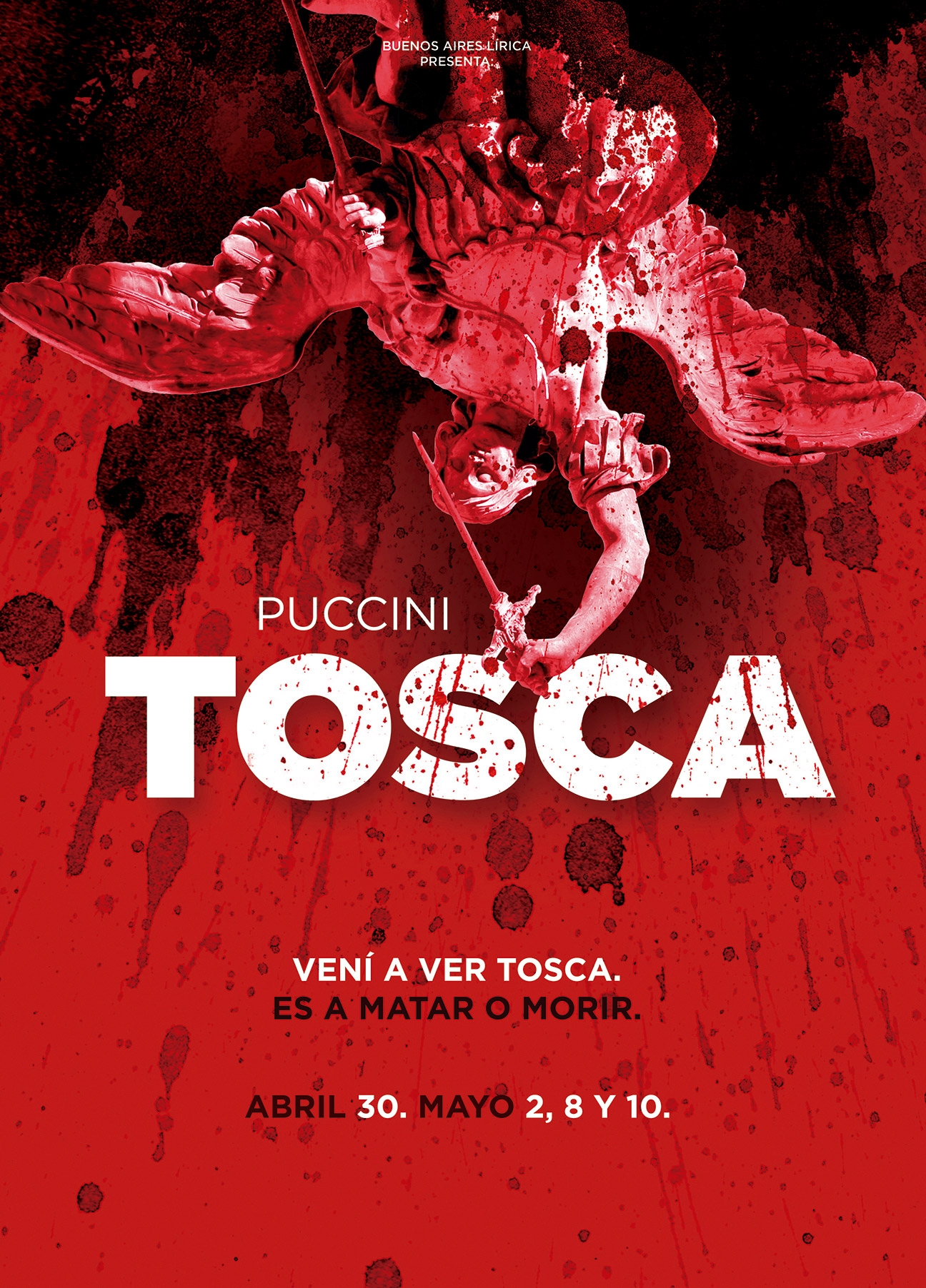 Diseño de afiche para ópera TOSCA - poster - BAL - productora de ópera. Diseño para redes sociales. Afiches.