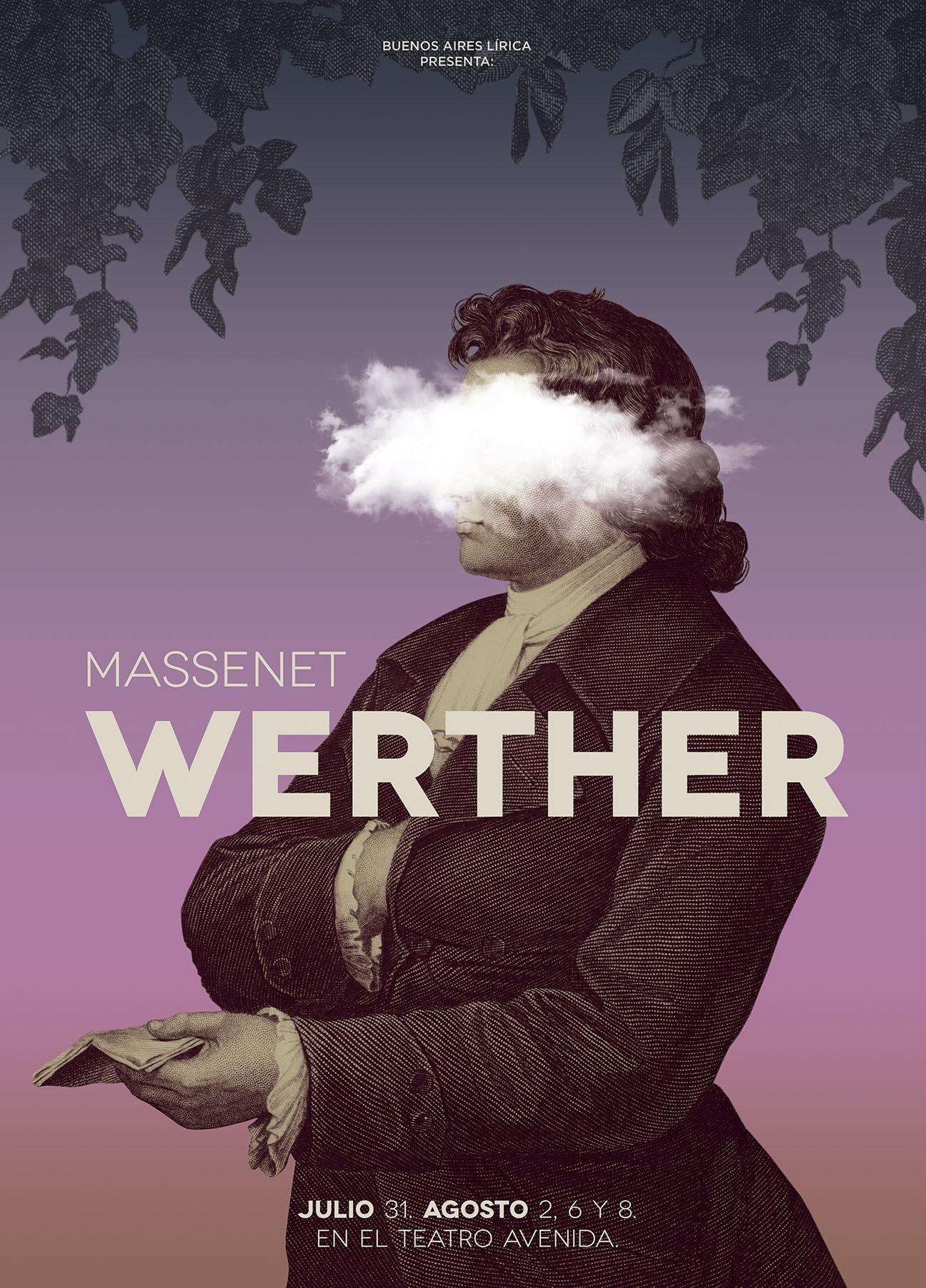 Diseño de afiche para ópera Werther - poster - BAL