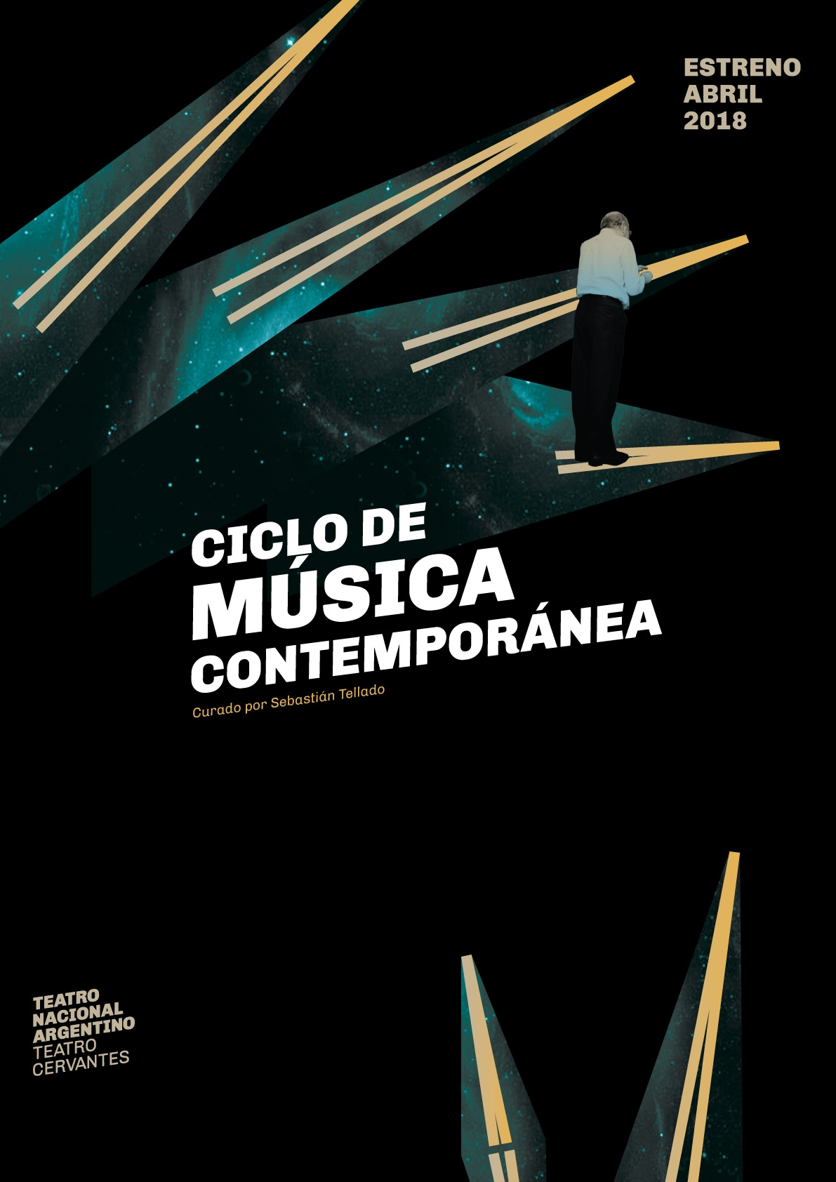 Diseño de afiches para el Teatro Nacional Argentino - Teatro Cervantes