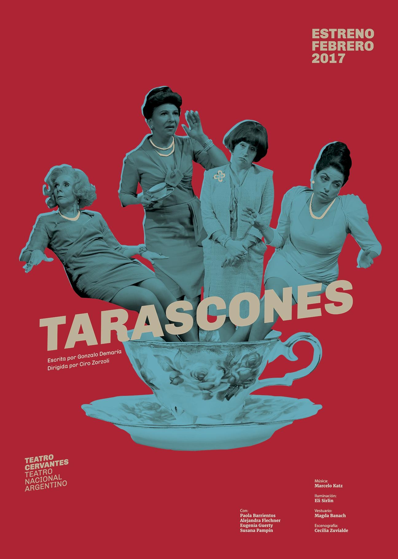 Diseño de afiches Teatro Cervantes - Teatro Nacional Argentino - La Terquedad