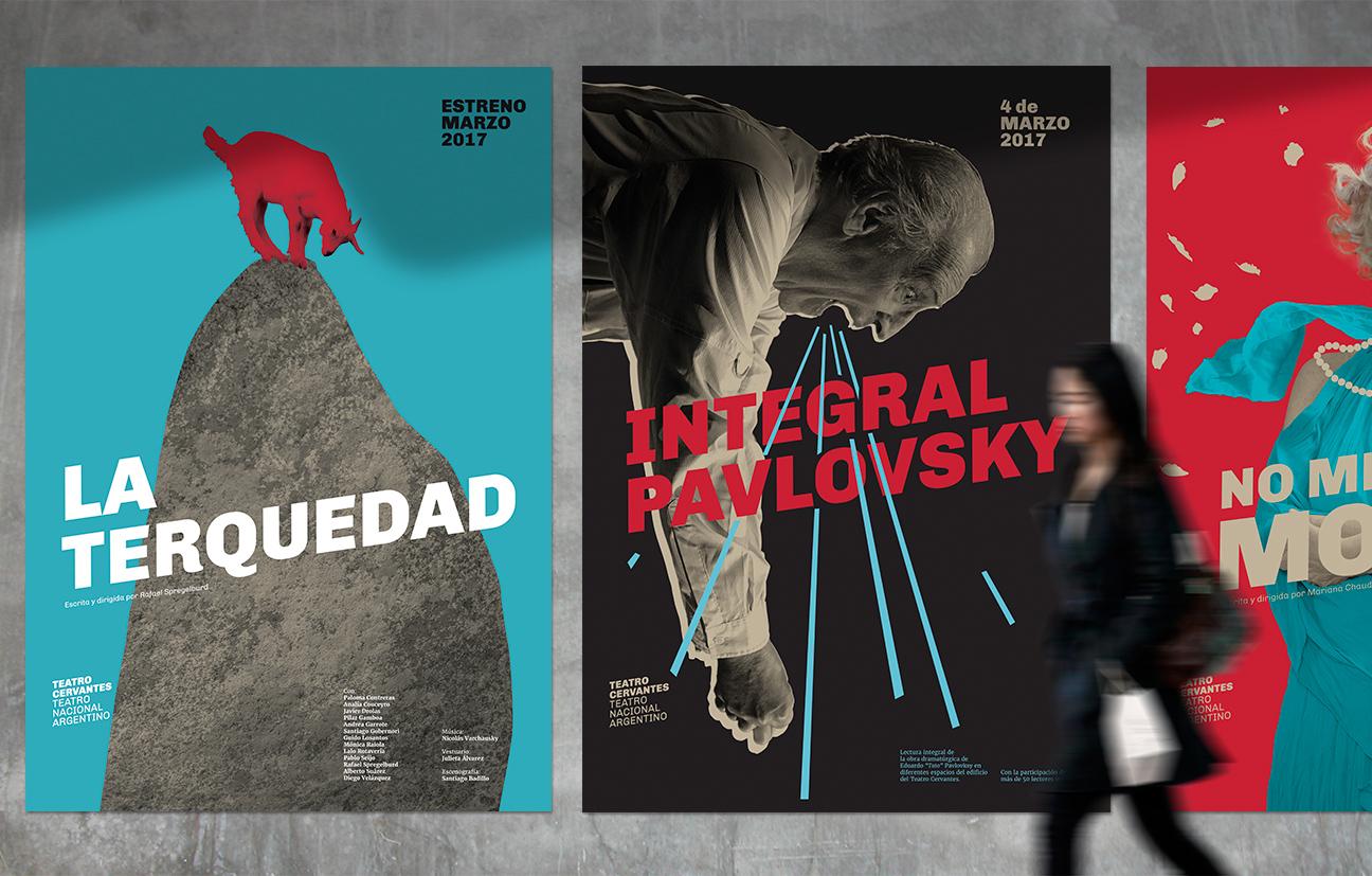 Diseño de identidad Teatro Cervantes - Teatro Nacional Argentino