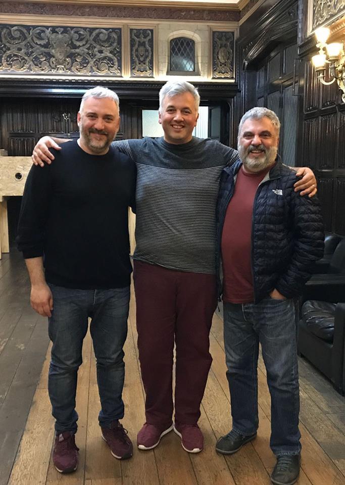 Martín Gorricho, Fabián Muggeri y Alejandro Tantanian, en la Casa Creativa del Sur