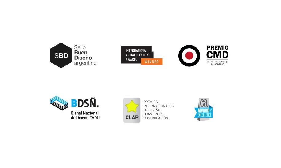 Premios y reconocimientos de Gorricho Diseño. Sello del Buen Diseño Argentino. International Visual Identity Awards. Bienal Nacional de Diseño FADU. CLAP. Communication Arts Award.