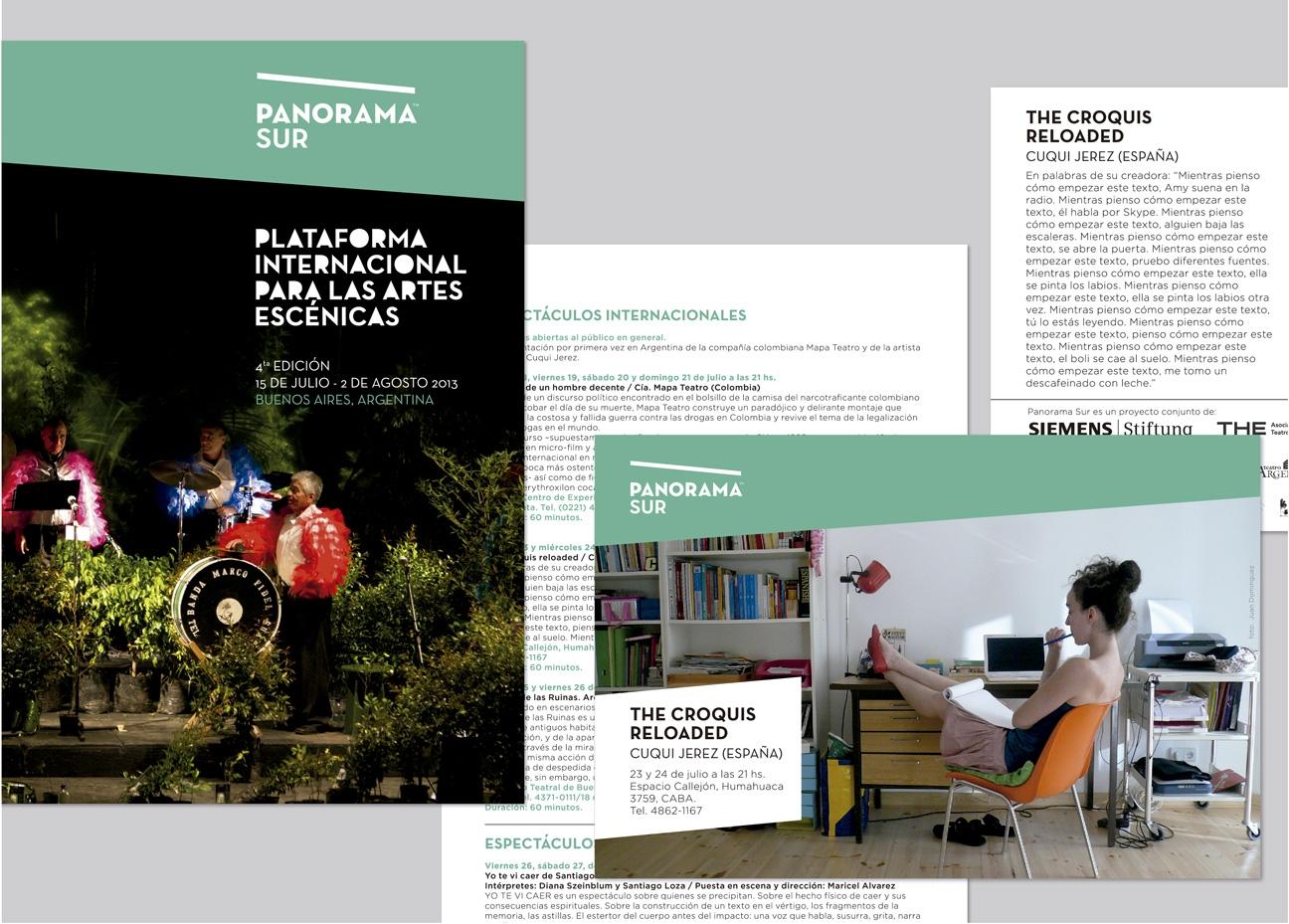 Diseño de marca para organización cultural. Diseño de marca de Panorama Sur.