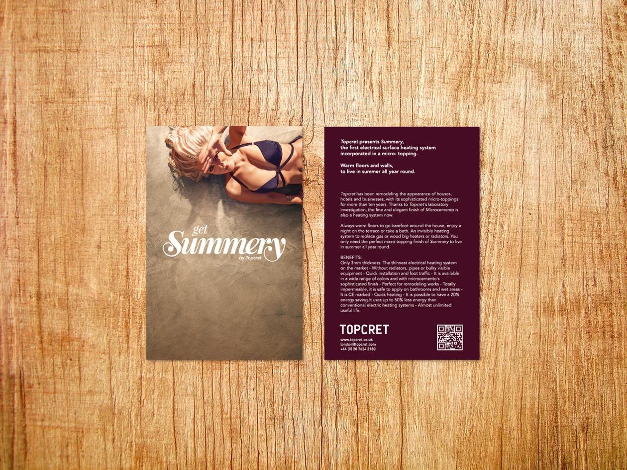 Diseño de material promocional para nueva marca.