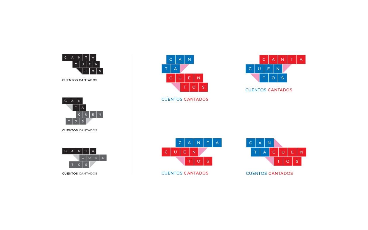 Diseño de marca - logotipos alternativos para compañía de ópera Cantacuentos.