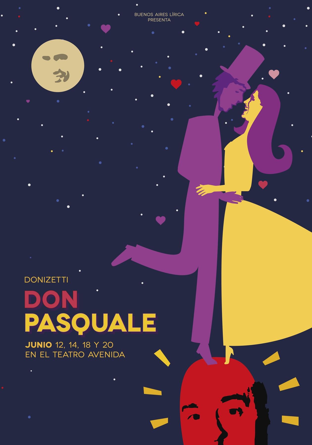 Diseño de comunicación para ópera Don Pasquale.