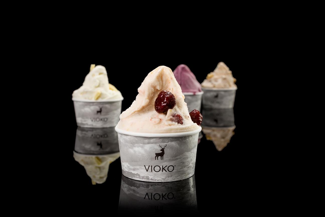 Diseño de marca y sistema de identidad visual para Vioko. Envases.