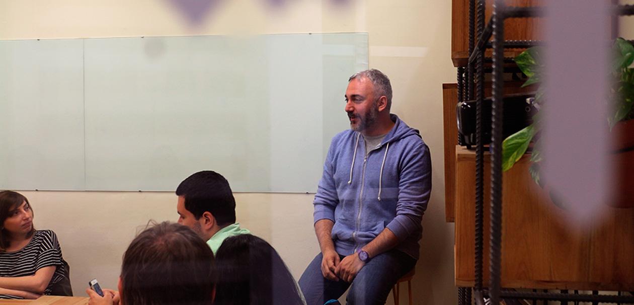 Martín Gorricho en el espacio de diseño Virgen.