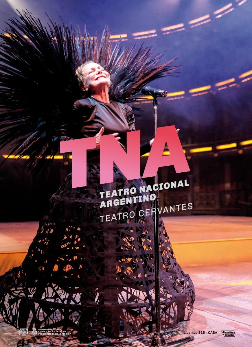 Diseño de identidad Teatro Nacional Argentino - Teatro Cervantes - campaña vía pública
