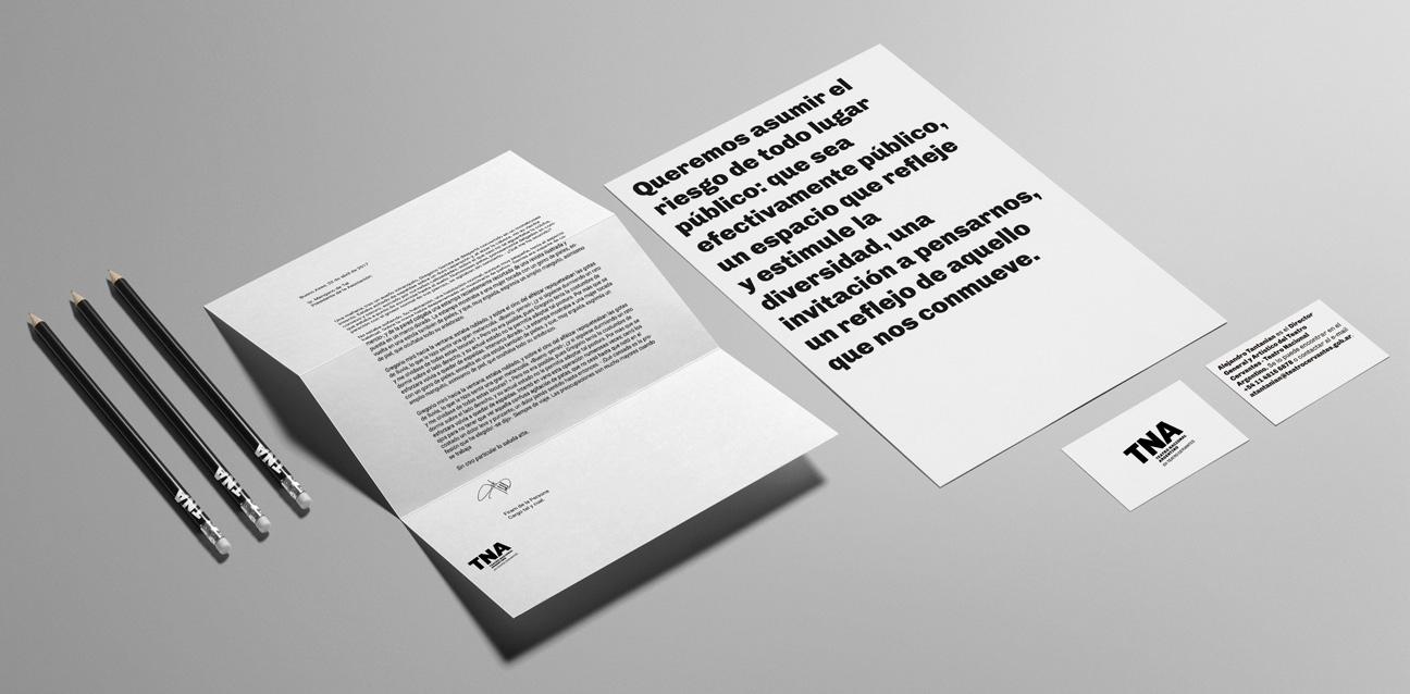 Diseño de identidad Teatro Nacional Argentino - Teatro Cervantes - papelería