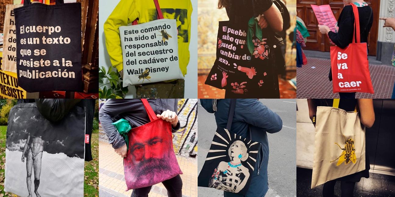 Diseño de identidad Teatro Nacional Argentino - Teatro Cervantes - merchandising - tote bags