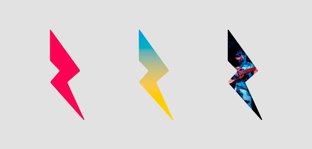Diseño de identidad Centro Cultural Recoleta. Símbolo. Logotipo. Rayo.