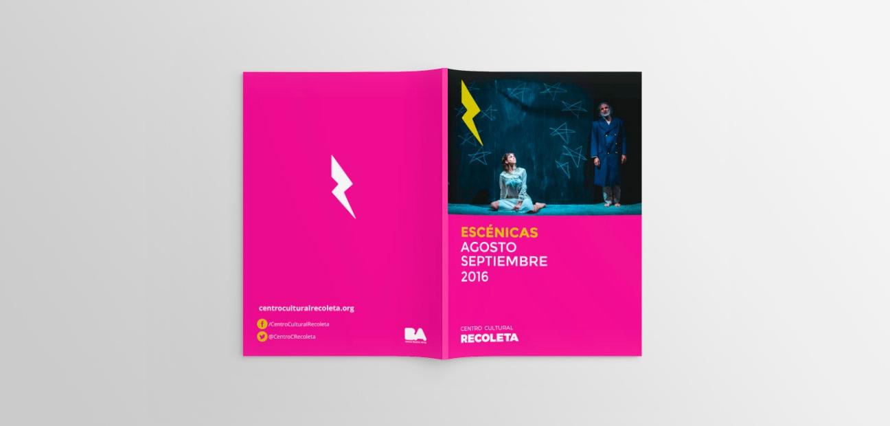 Diseño de identidad Centro Cultural Recoleta.