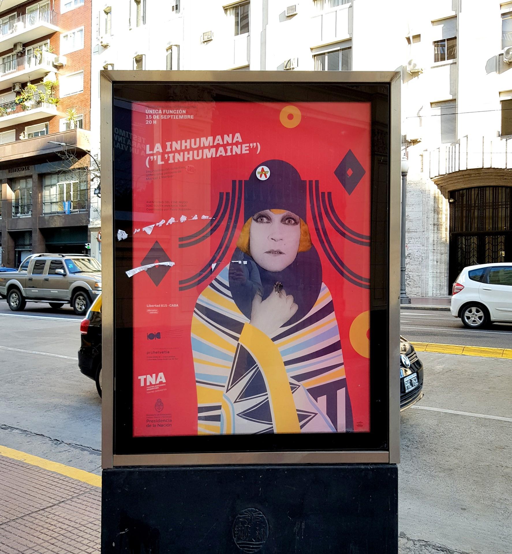 Diseño Afiche Teatro La Inhumana
