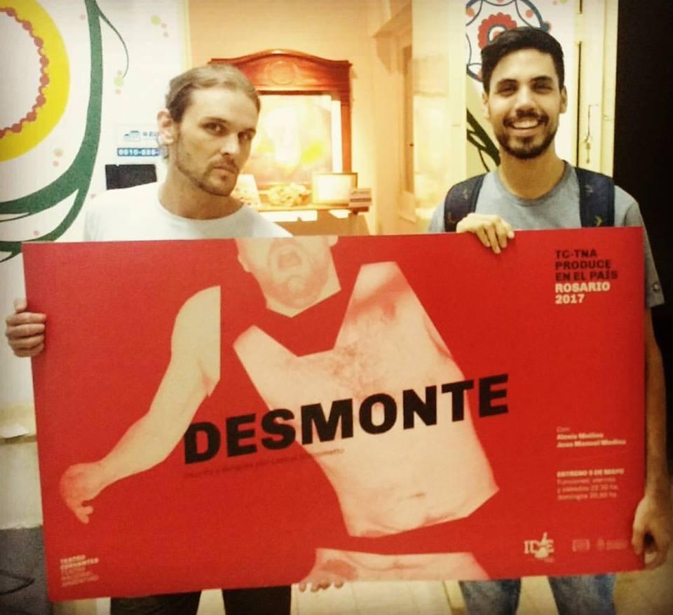 Diseño de afiches Teatro Cervantes - Teatro Nacional Argentino - Desmonte