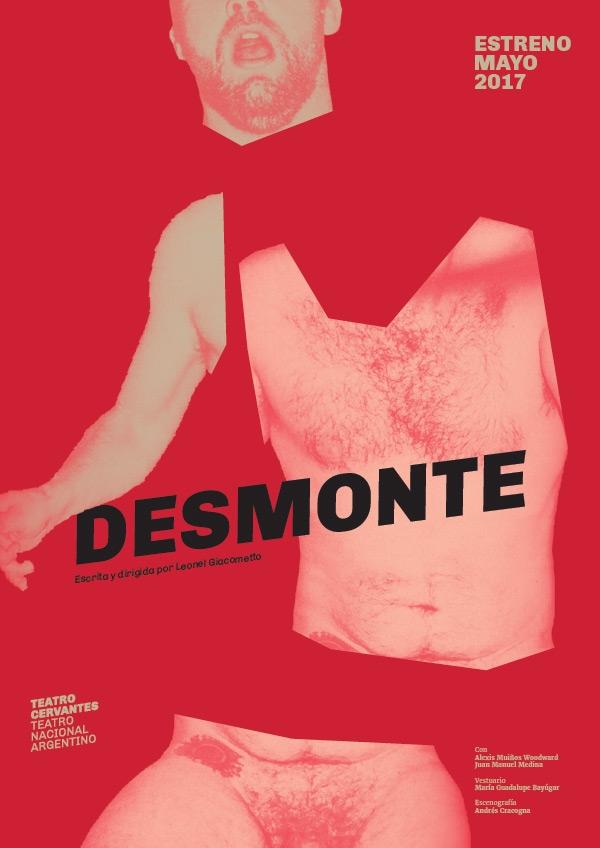 Diseño de identidad Teatro Cervantes - Teatro Nacional Argentino - afiche Desmonte