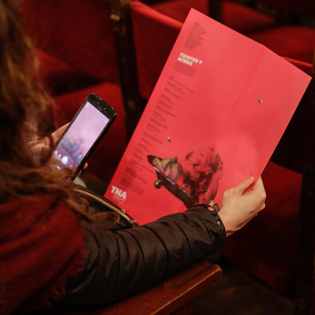 Diseño de afiches Teatro Nacional Argentino - Teatro Cervantes - Tiestes y Atreo