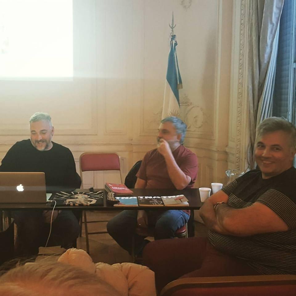 Alejandro Tantanian y Martín Gorricho dan cuna charla sobre el diseño de identidad visual del Teatro Cervantes - Teatro Nacional Argentino