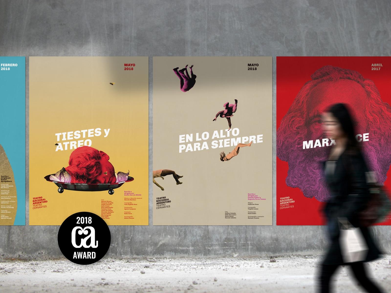 Afiches ganadores en la 2018 Design Annual Competition de Communication Arts - Posters para el Teatro Nacional Argentino - Teatro Cervantes