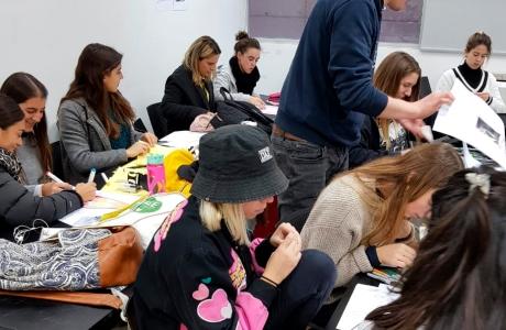 Workshop de afiches en Chile.