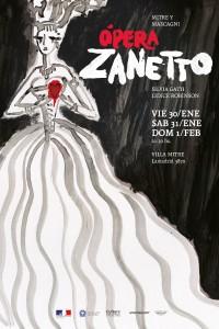 2009. Afiche para la ópera Zanetto, de Mascagni. Villa Mitre, Mar del Plata.