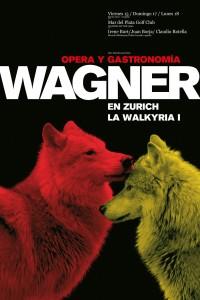 2010. Afiche para el espectáculo musical Wagner en Zurich. Golf Club, Mar del Plata.