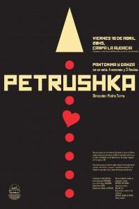 2014. Afiche para la obra de danza Petrushka. Mar del Plata.