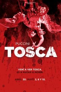 2015. Afiche para la ópera Tosca, de Puccini. Producción de Buenos Aires Lírica. Teatro Avenida, Buenos Aires.