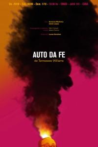 2017. Afiche para la obra Auto da fe, de Lucas Sánchez. Buenos Aires.