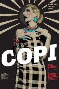 2017. Afiche para la obra Copi, Teatro Nacional Argentino - Teatro Cervantes.