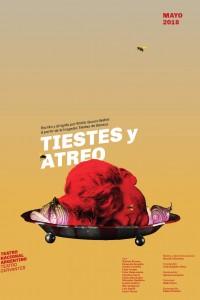 2018. Afiche para la obra Tiestes y Atreo, Teatro Nacional Argentino - Teatro Cervantes.