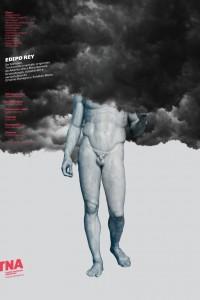 2019. Afiche para la obra Edipo Rey, Teatro Nacional Argentino - Teatro Cervantes.