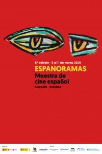 2020. Afiche para la muestra de cine español Espanoramas. Centro Cultural de España en Buenos Aires.