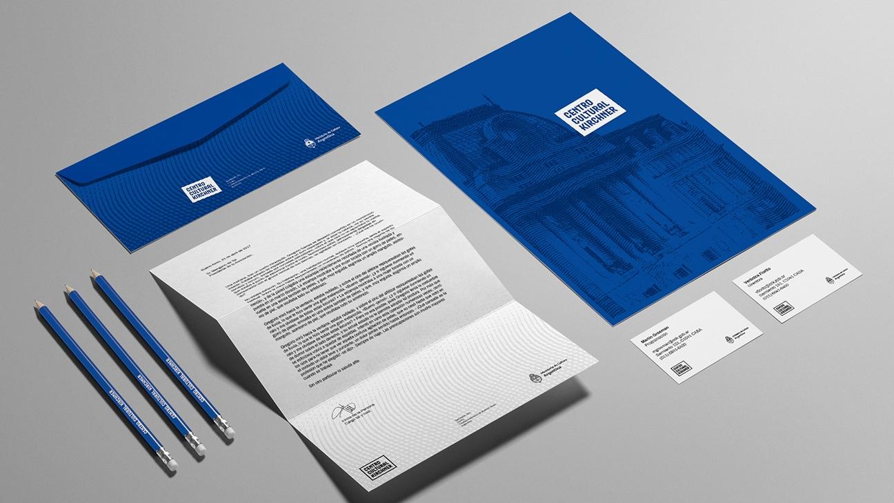Diseño de identidad Centro Cultural Kirchner - diseño filigranas
